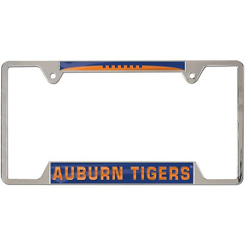 WinCraft Auburn Tigers 4-Tab Style Inlaid Metal License Plate Frame