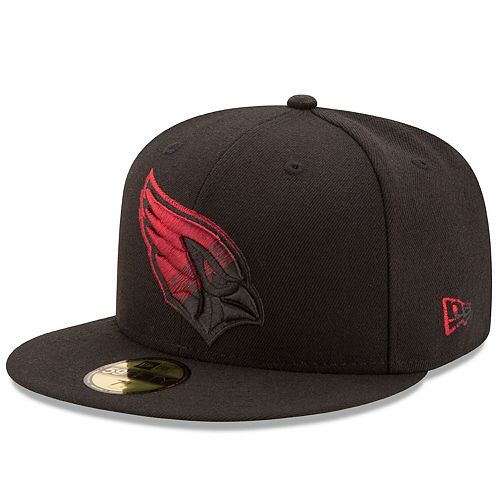 Men's New Era Black Arizona Cardinals Color Dim 59FIFTY Fitted Hat