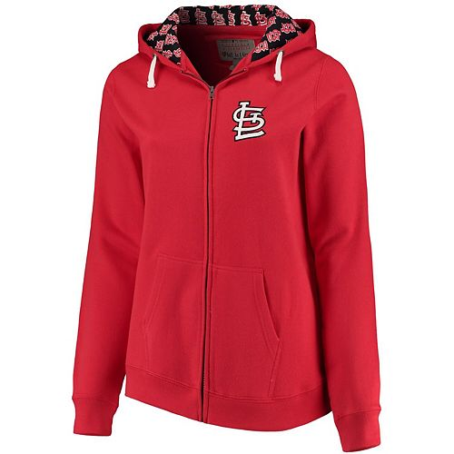 Women's Soft as a Grape Red St. Louis Cardinals Plus Size Pennant Race Full-Zip Hoodie
