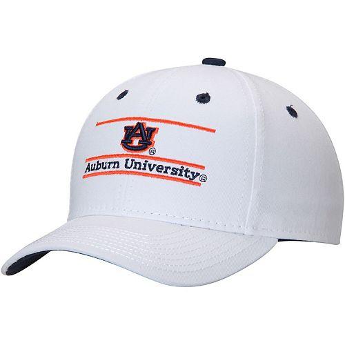 Men's The Game White Auburn Tigers Classic Bar Adjustable Snapback Hat