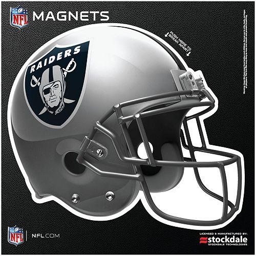 "Oakland Raiders 12"" x 12"" Helmet Car Magnet"