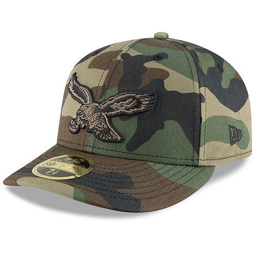 Men's New Era Camo Philadelphia Eagles Team Low Profile 59FIFTY Fitted Hat