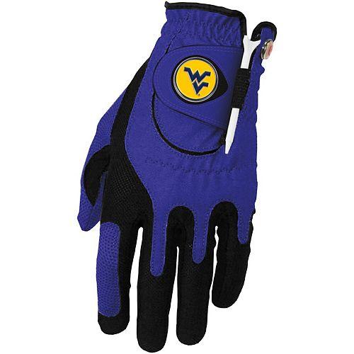 Men's Blue West Virginia Mountaineers Left Hand Golf Glove & Ball Marker Set