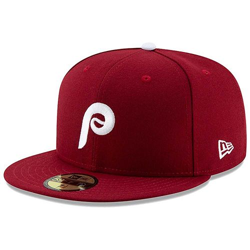 Men's New Era Maroon Philadelphia Phillies Alternate 2 Authentic Collection On-Field 59FIFTY Fitted Hat