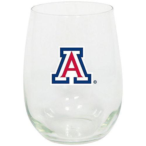 Arizona Wildcats 15oz. Stemless Wine Glass