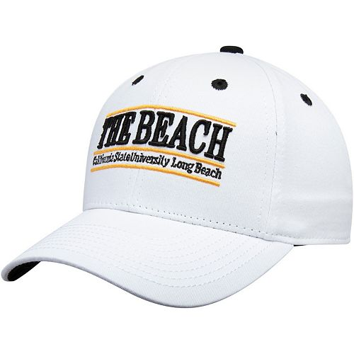 Men's The Game White Long Beach State 49ers Classic Bar Structured Adjustable Hat