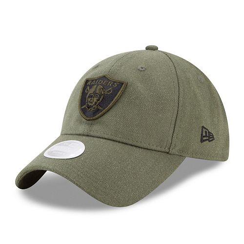 Women's New Era Oakland Raiders Olive Green Preferred Pick 9TWENTY Adjustable Hat
