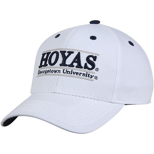 Men's The Game White Georgetown Hoyas Classic Bar Adjustable Hat