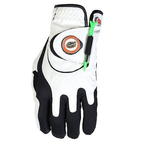 Men's White Florida Gators Left Hand Golf Glove & Ball Marker Set