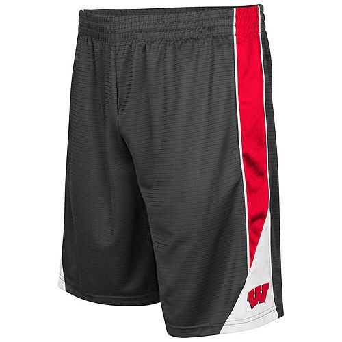 Men's Colosseum Charcoal Wisconsin Badgers Turnover Shorts