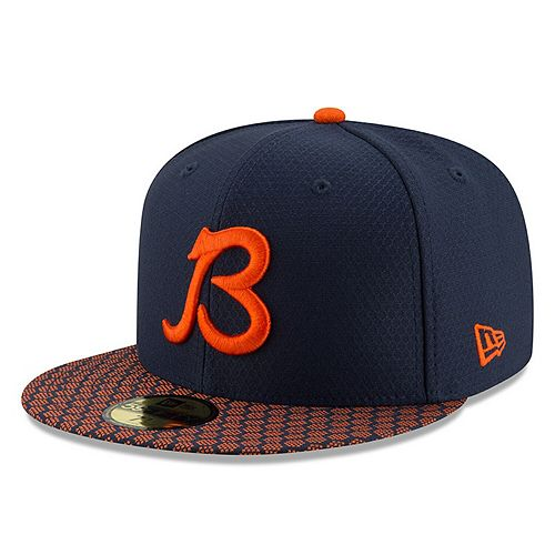 Men's New Era Navy Chicago Bears Alt 2017 Sideline Official 59FIFTY Fitted Hat