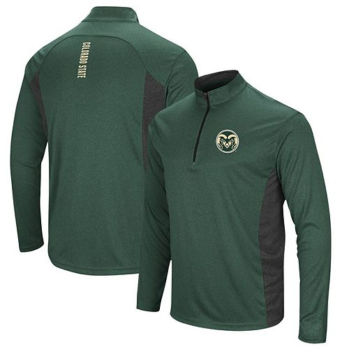 Men's Colosseum Green Colorado State Rams Audible Windshirt Quarter-Zip Pullover Jacket