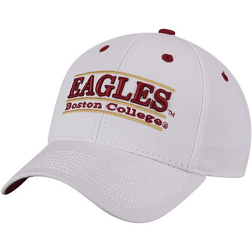 Men's The Game White Boston College Eagles Classic Bar Adjustable Snapback Hat