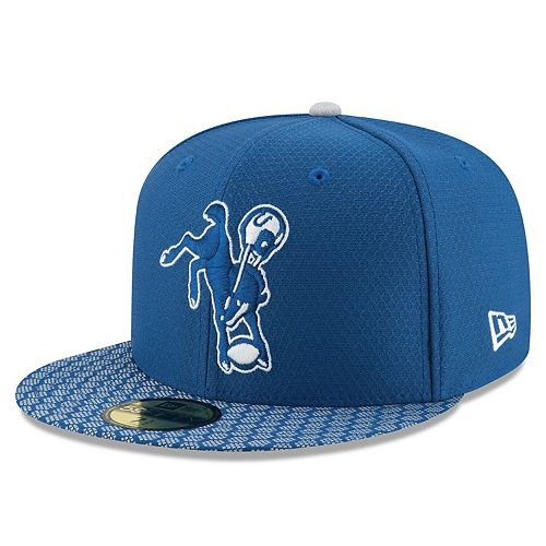 Men's New Era Royal Indianapolis Colts 2017 Sideline Historic 59FIFTY Fitted Hat