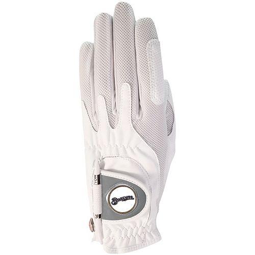 Women's White Milwaukee Brewers Left Hand Golf Glove & Ball Marker
