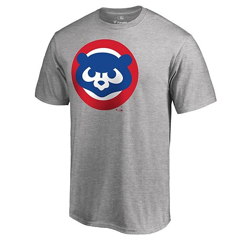 Men's Fanatics Branded Heathered Gray Chicago Cubs Cooperstown Collection Huntington T-Shirt