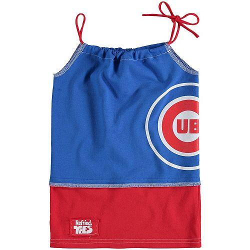 Girls Preschool Refried Tees Royal Chicago Cubs Tee-Tank Dress