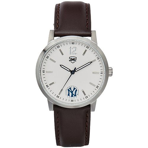 Men's  New York Yankees Watch With Brown Leather Strap