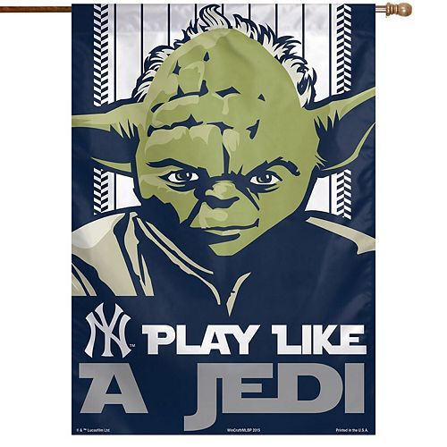"""WinCraft New York Yankees 28"""" x 40"""" Star Wars Single-Sided House Banner"""