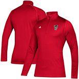 Men's adidas Red NC State Wolfpack Freelift Sport Quarter-Zip Jacket