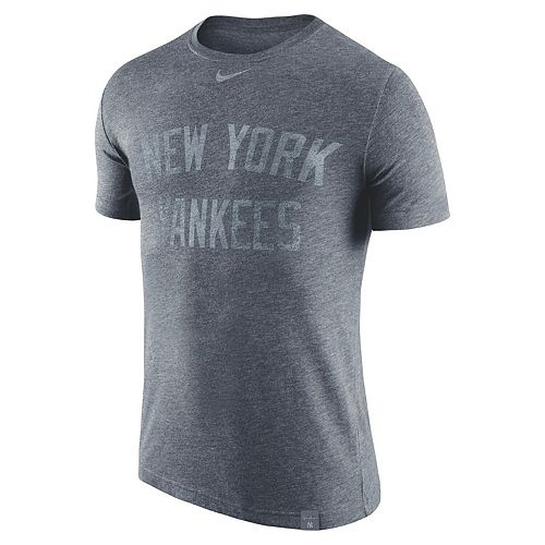 Men's Nike Heathered Navy New York Yankees Tri-Blend DNA Performance T-Shirt