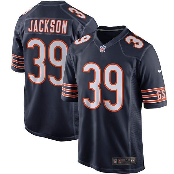 Men's Nike Eddie Jackson Navy Chicago Bears Player Game Jersey