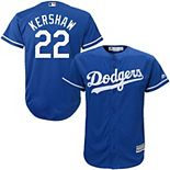 Youth Majestic Clayton Kershaw Royal Los Angeles Dodgers Official Cool Base Player Jersey