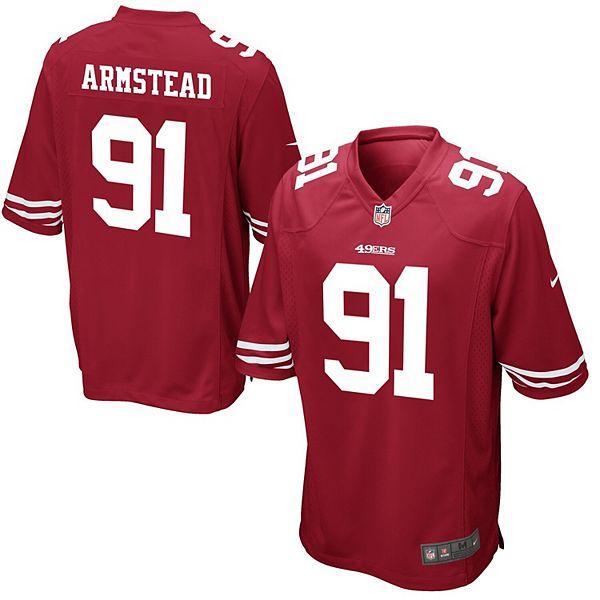 Men's Nike Arik Armstead Scarlet San Francisco 49ers Game Jersey