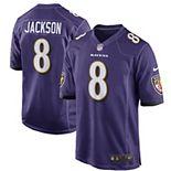 Men's Nike Lamar Jackson Purple Baltimore Ravens Game Jersey