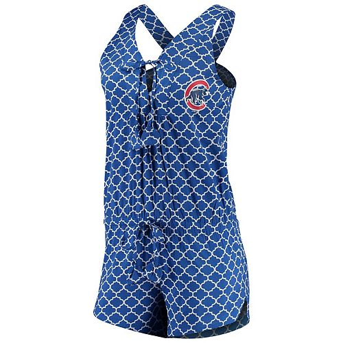Women's Concepts Sport Royal/White Chicago Cubs Slumber Romper Pajamas