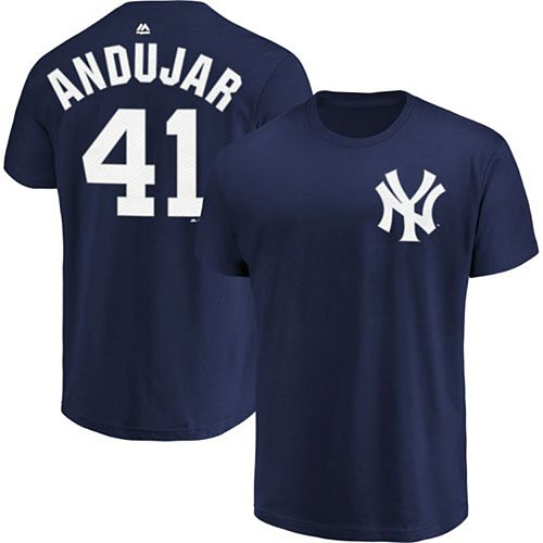 Men's Majestic Miguel Andujar Navy New York Yankees Official Name & Number T-Shirt