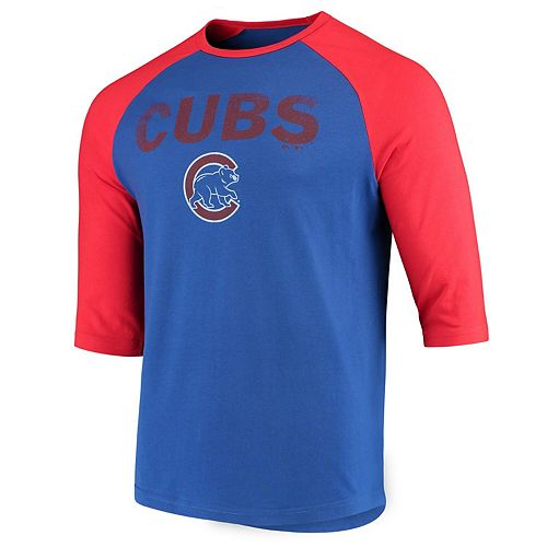 Men's Majestic Royal Chicago Cubs This Season 3/4-Sleeve Tri-Blend Raglan T-Shirt