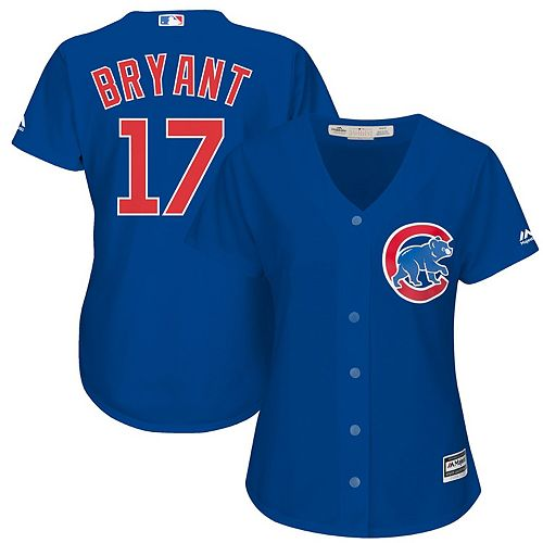 Women's Majestic Kris Bryant Royal Chicago Cubs Cool Base Player Jersey