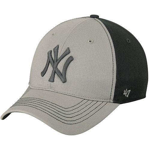 Men's '47 Gray/Dark Gray New York Yankees Umbra Closer Flex Hat