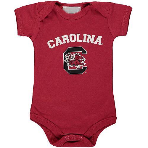 Infant Garnet South Carolina Gamecocks Arch & Logo Bodysuit
