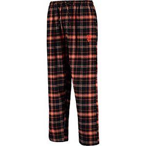 Men's Concepts Sport Black/Orange San Francisco Giants Ultimate Plaid Flannel Pants