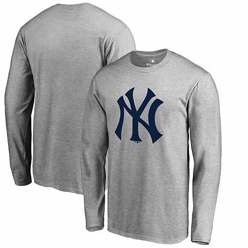 Men's Fanatics Branded Heathered Gray New York Yankees Primary Team Logo T-Shirt