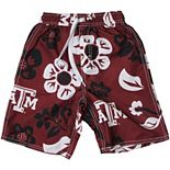 Preschool Wes & Willy Maroon Texas A&M Aggies Floral Swim Trunks