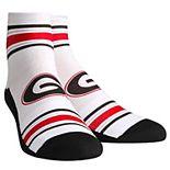 Youth White Georgia Bulldogs Classic Stripes Quarter-Length Socks