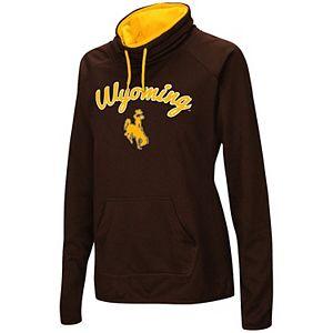 Women's Brown Wyoming Cowboys Funnel Neck Pullover Sweatshirt