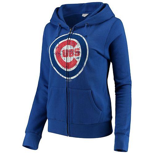 Women's 5th & Ocean by New Era Royal Blue Chicago Cubs Core Fleece Hoodie