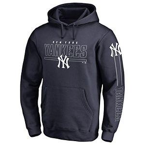 premium selection 39e72 213a0 Men's Antigua Navy New York Yankees Pivotal Button Pullover Sweatshirt