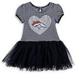 Girls Toddler Navy/White Denver Broncos Celebration Scoop Neck Tutu Dress