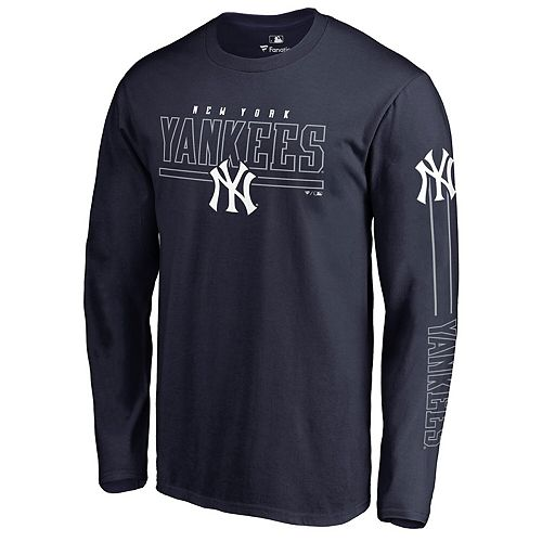 Men's Fanatics Branded Navy New York Yankees Front Line Long Sleeve T-Shirt