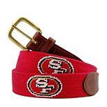 San Francisco 49ers Needlepoint Belt