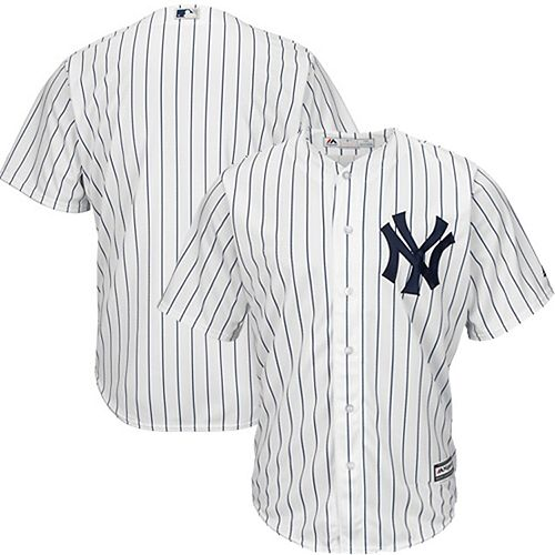 Men's Majestic White New York Yankees Official Cool Base Jersey