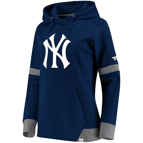 Women's Fanatics Branded Navy/Gray New York Yankees Iconic Fleece Pullover Hoodie