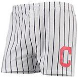 Men's Concepts Sport White Cleveland Indians Vigor Boxer Shorts