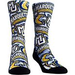 Men's Marquette Golden Eagles Logo Sketch Crew Socks