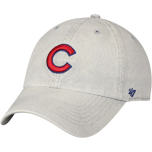 Men's '47 Gray Chicago Cubs Cement Clean Up Adjustable Hat